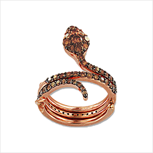 UNO E TRINO MAGIC SERPENTI RING ROSA