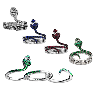 UNO E TRINO MAGIC SERPENTI RING